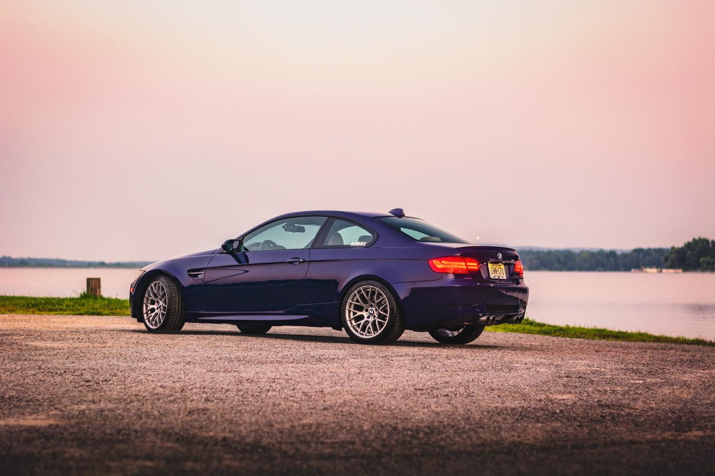 BMW M3 at sunset