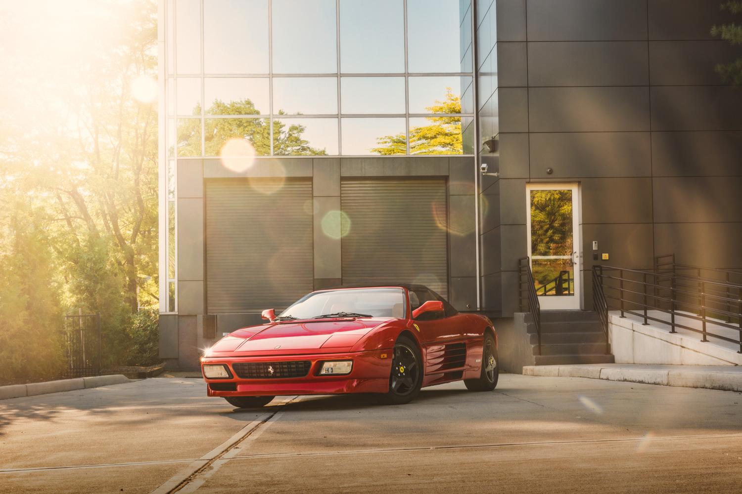 Ferrari 348 sunset
