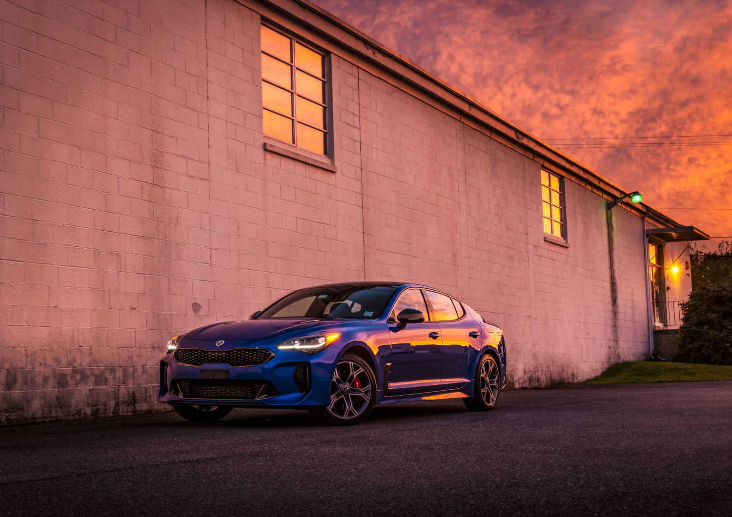 Kia Stinger GT at sunset