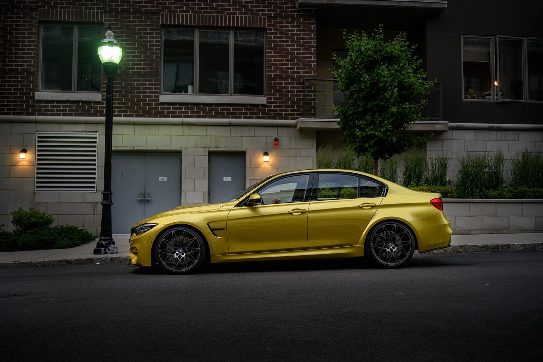 BMW M3 in Austin Yellow