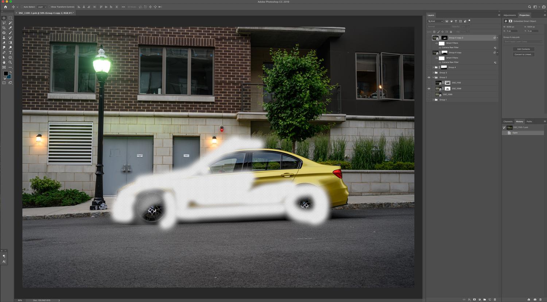 BMW M3 Photoshop Mask