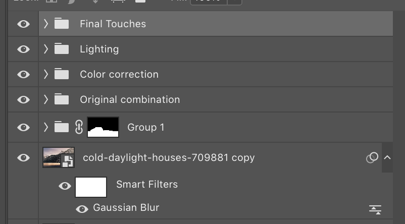 All Photoshop layers