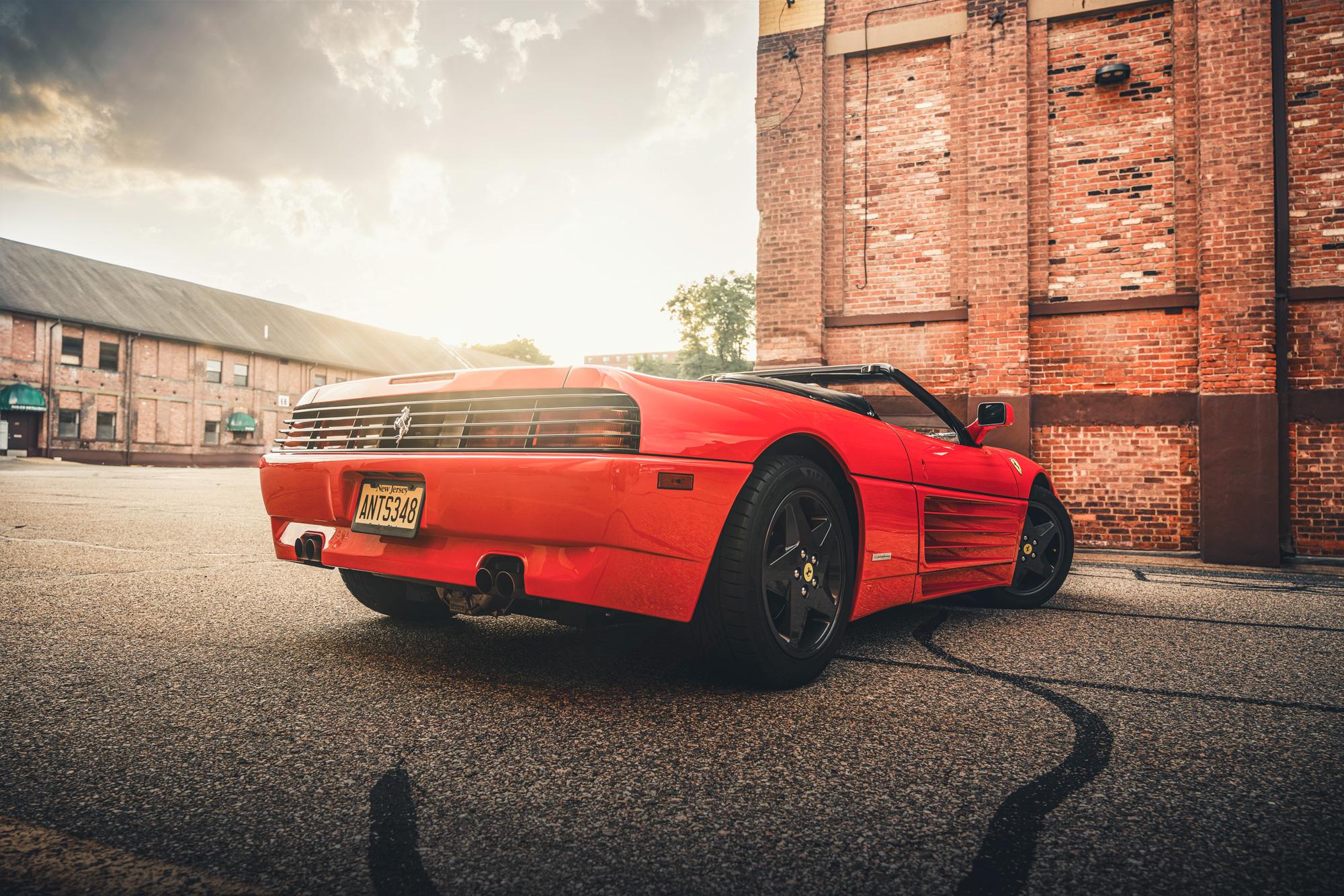 Ferrari 348 sunset