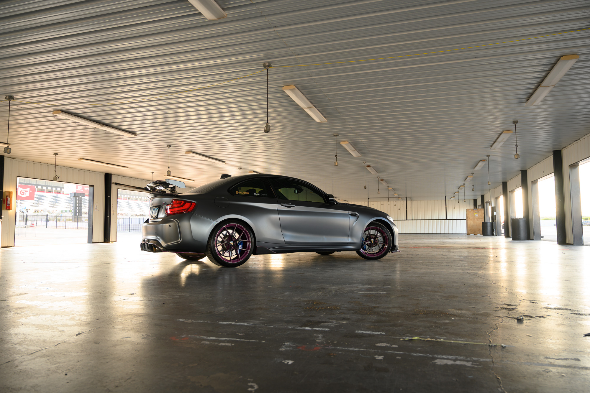 BMW M2 at pocono garage