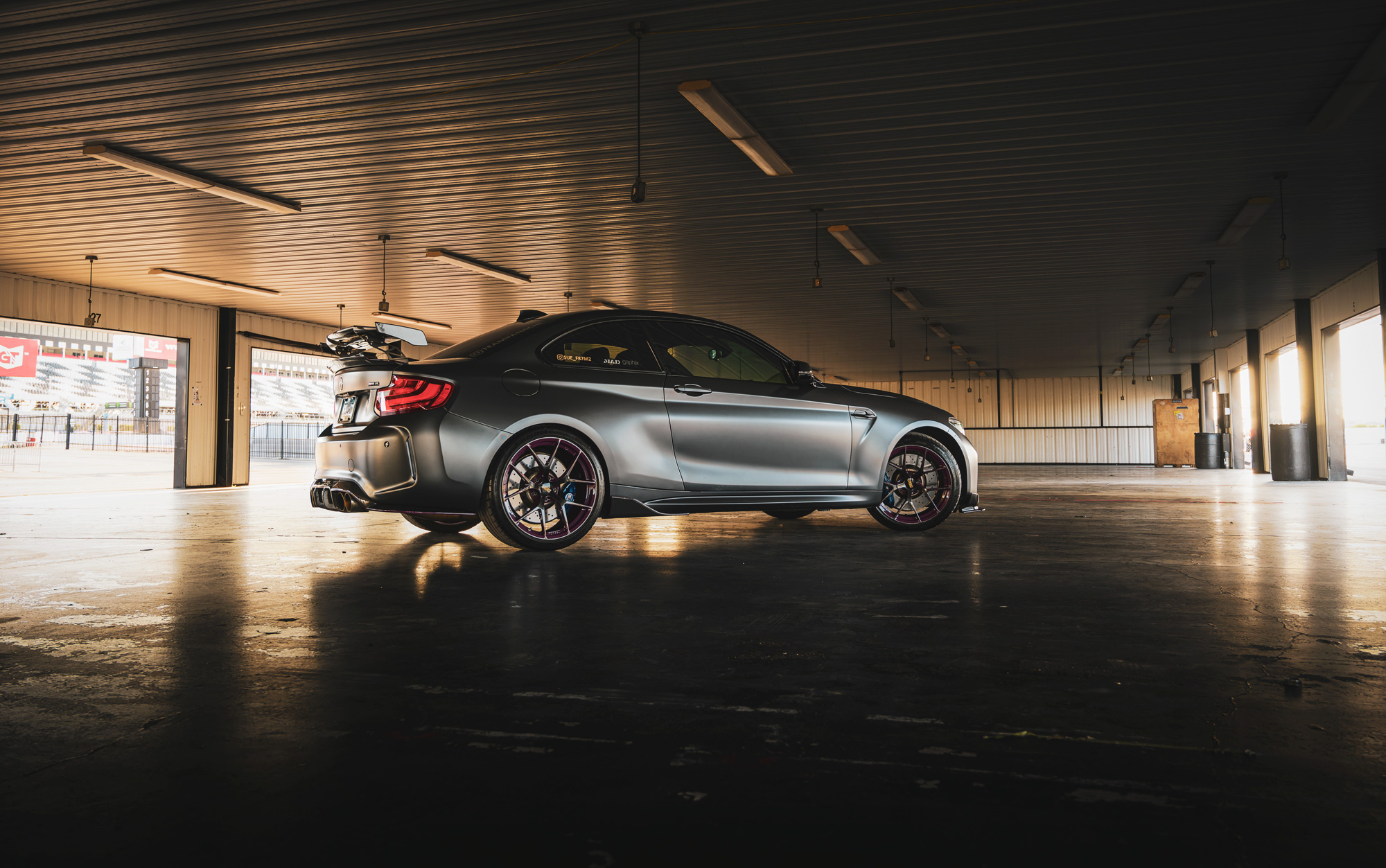 BMW M2 Pocono garage