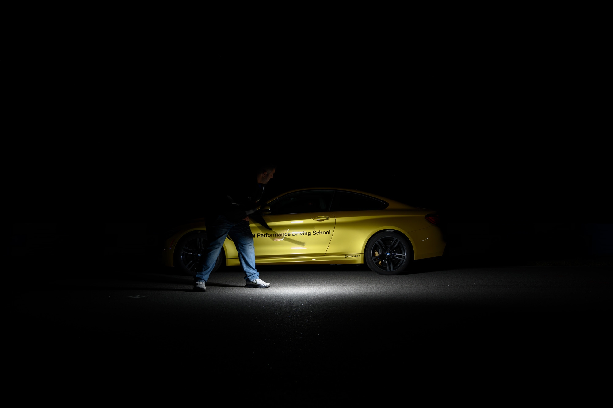 BMW M4 light painting