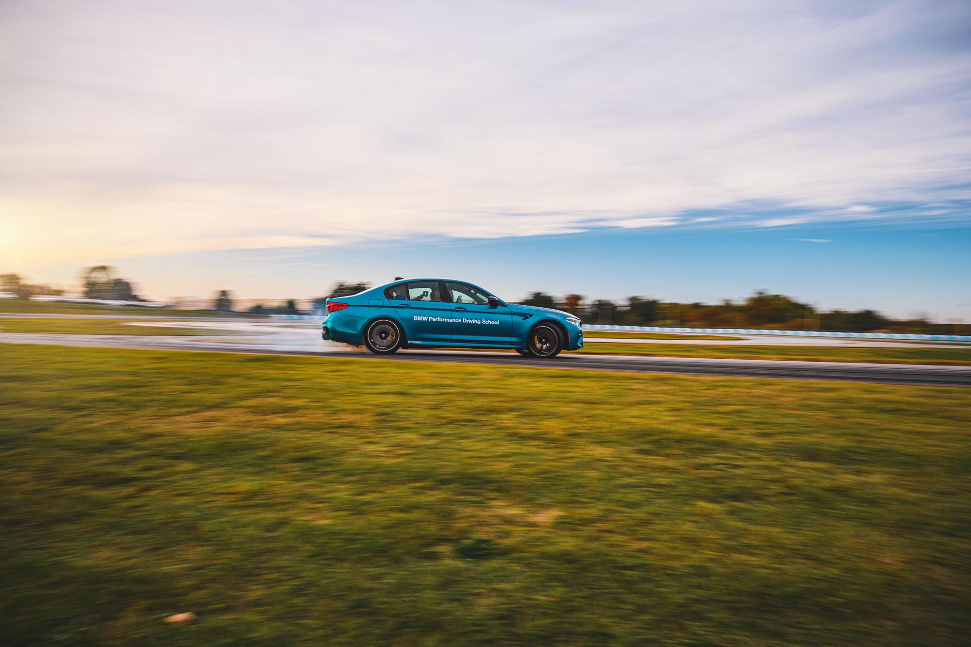 BMW M5 hot lap