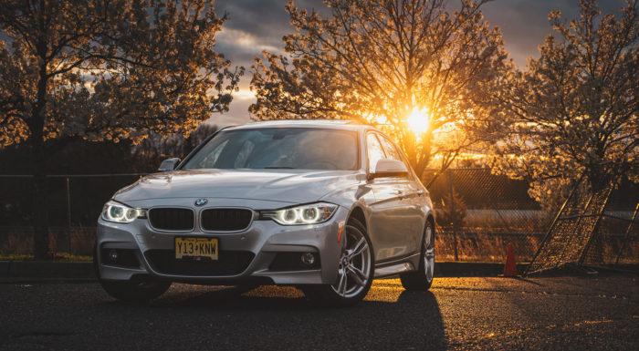 BMW 335i sunset