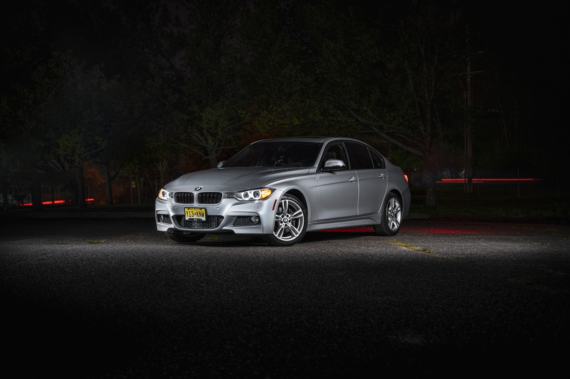BMW 335i light painting