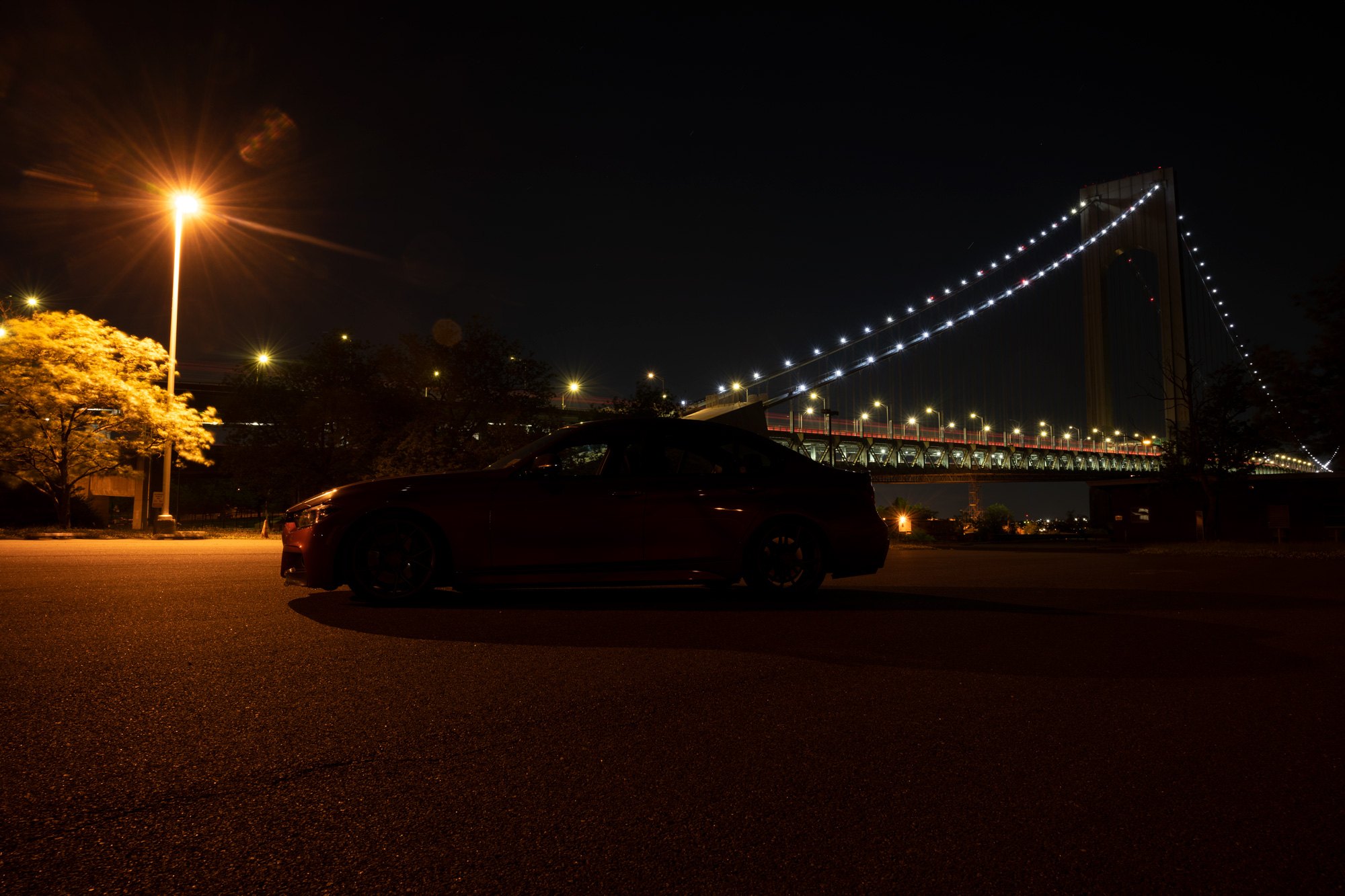 BMW 3 Series at night
