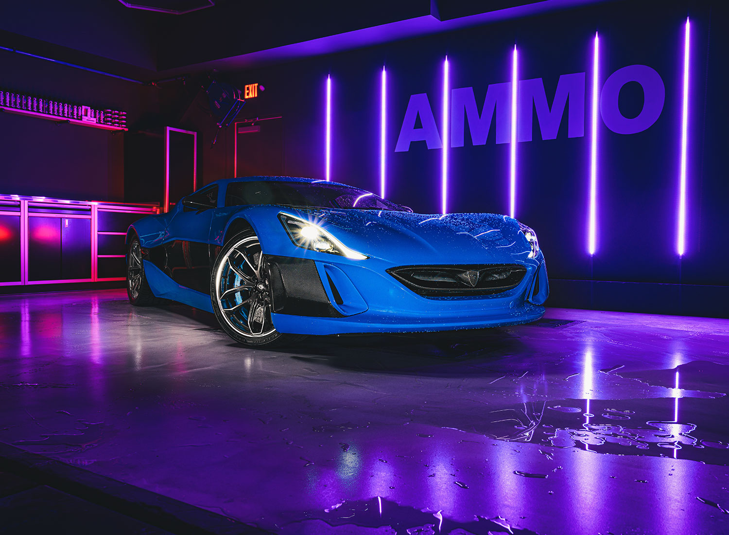 Rimac Concept One in AMMO NYC Garage