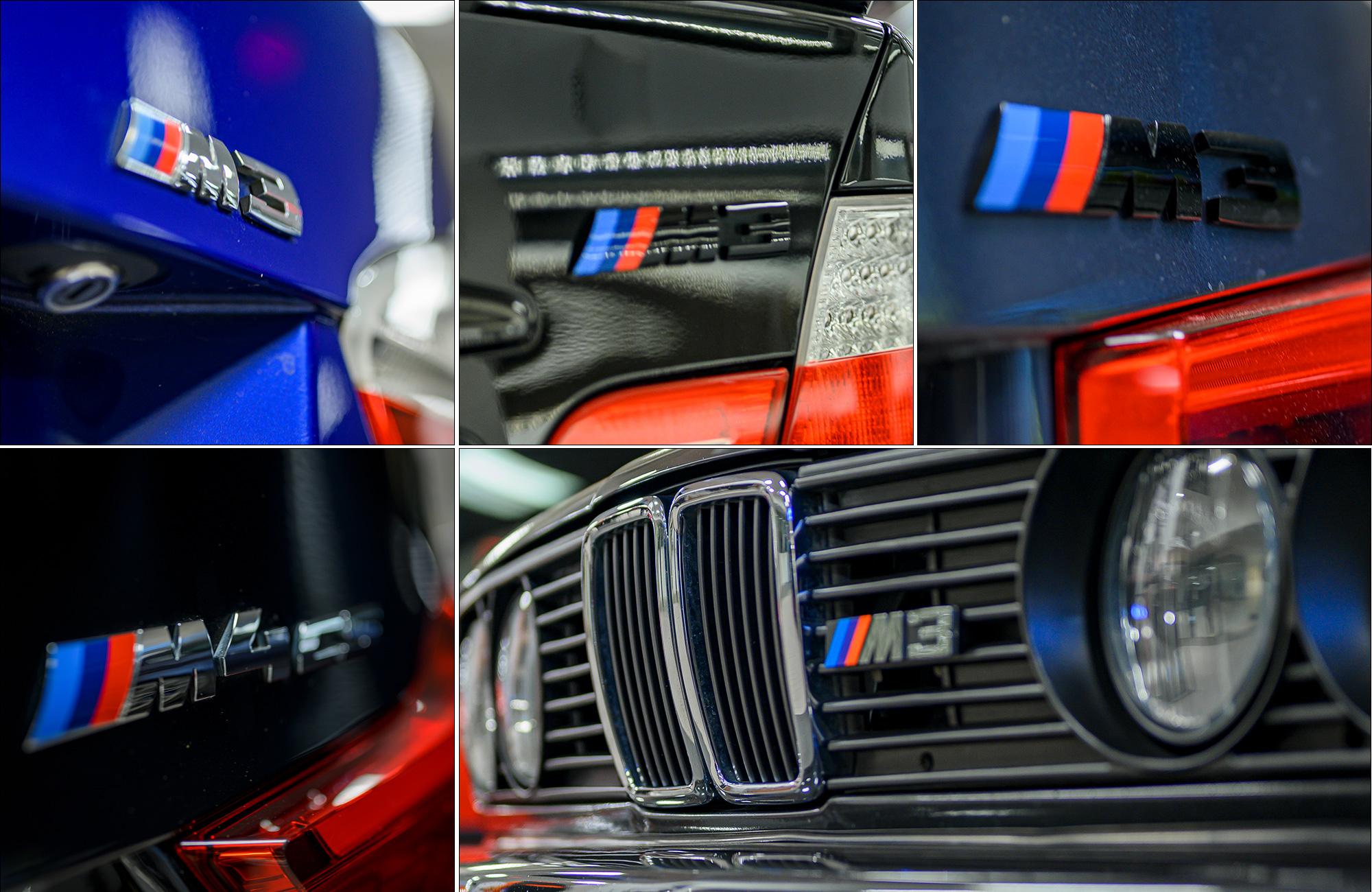 BMW M3 badges