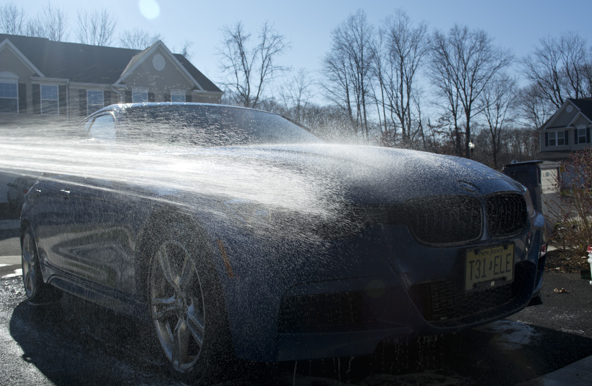 BMW 328i wash
