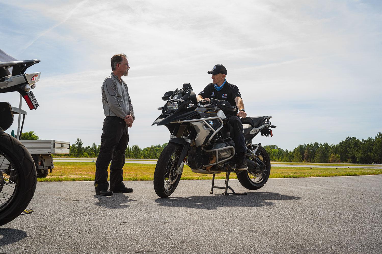 BMW bike lesson