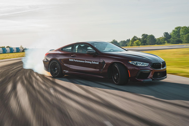 BMW M8 drifting