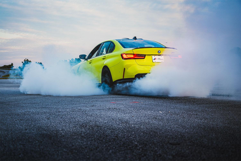 BMW M3 burnout