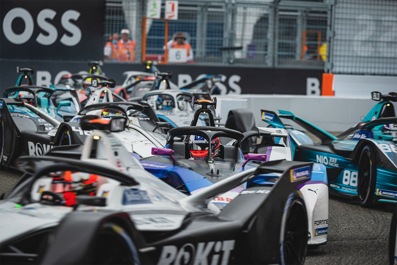 Formula E lap one