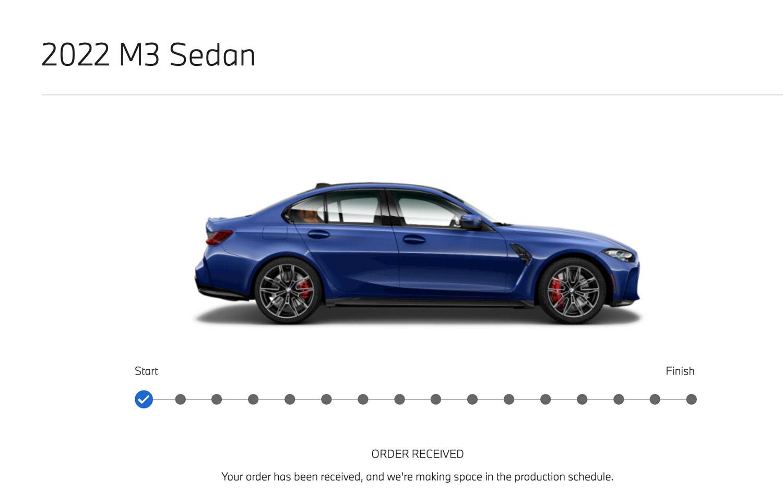 BMW M3 order