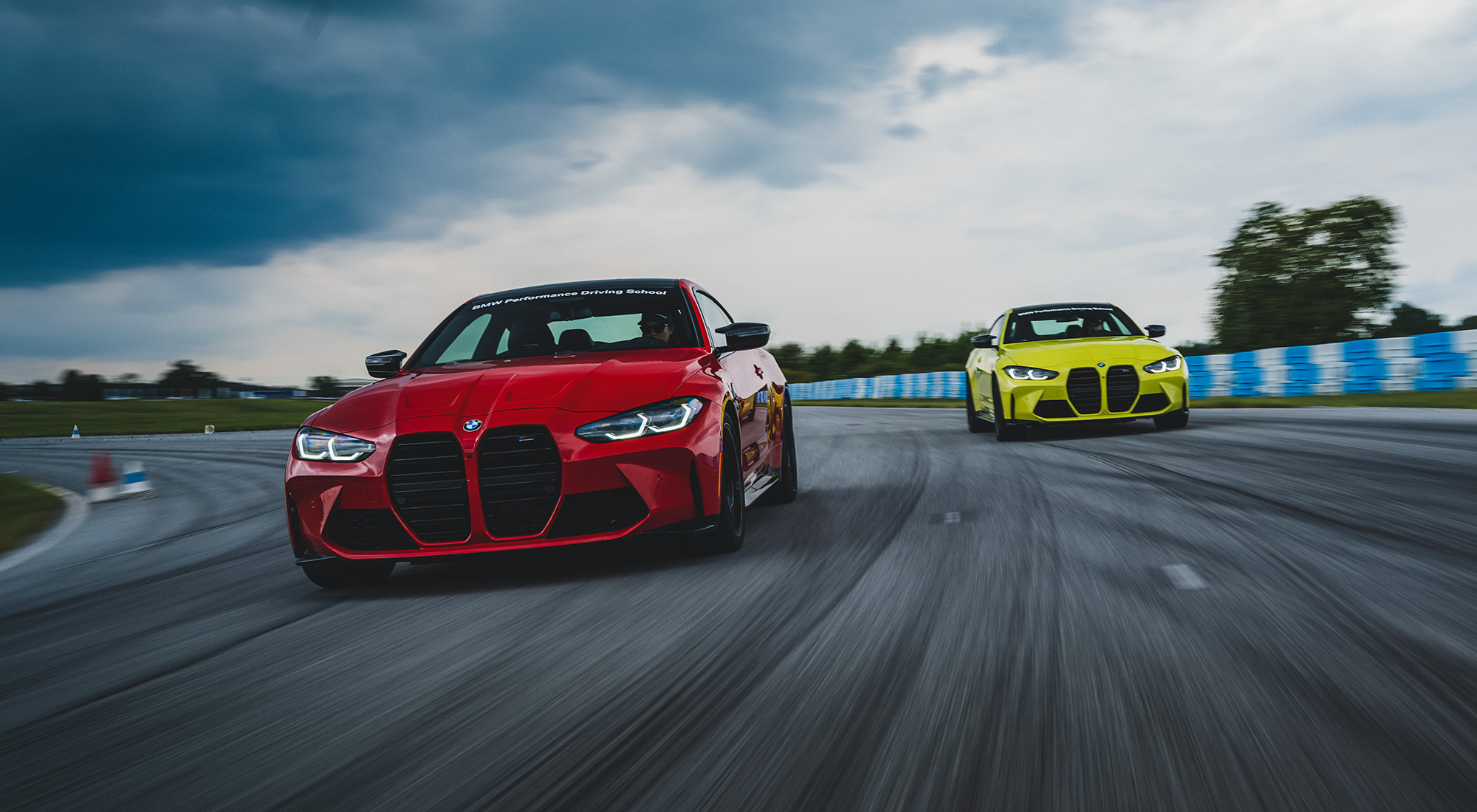 BMW M4 on track